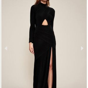 Black key hole evening gown